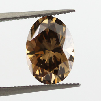 Fancy Dark Orangy Brown Diamond, Oval, 3.10 carat, VS2
