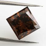 Fancy Dark Orangy Brown, 3.09 carat, SI2