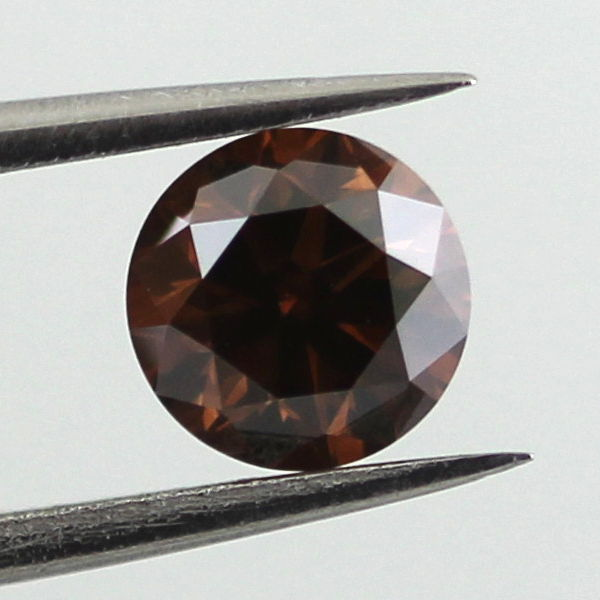 Fancy Dark Orangy Brown Diamond, Round, 0.50 carat, VS2 - B