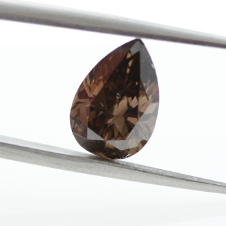 Fancy Dark Orangy Brown, 3.02 carat, SI2