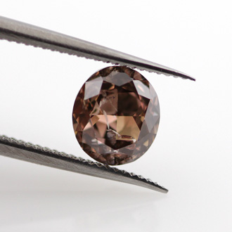 Fancy Dark Orangy Brown, 0.82 carat, I2