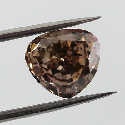 Fancy Dark Pinkish Brown Diamond, Heart, 1.19 carat - B