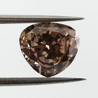 Fancy Dark Pinkish Brown, 1.19 carat