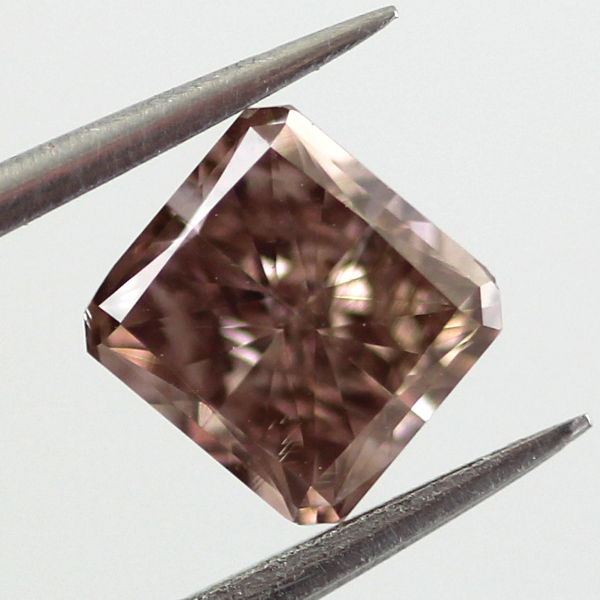 Fancy Dark Pinkish Brown Diamond, Princess, 0.77 carat, SI1 - B