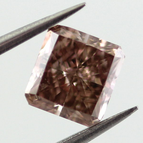 Fancy Dark Pinkish Brown Diamond, Princess, 0.77 carat, SI1 - C