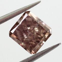 Fancy Dark Pinkish Brown, 0.77 carat, SI1