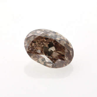 Fancy Dark Pinkish Brown Diamond, Oval, 1.43 carat, I1
