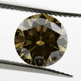 Fancy Dark Yellowish Brown, 0.77 carat, SI1