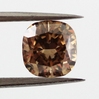 Fancy Dark Yellowish Brown Diamond, Cushion, 1.02 carat, VS2 - B