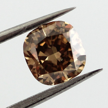 Fancy Dark Yellowish Brown Diamond, Cushion, 1.02 carat, VS2 - C