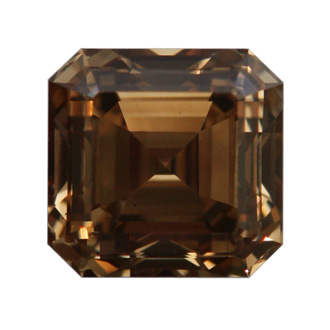 Fancy Dark Yellowish Brown Diamond, Emerald, 1.02 carat, VS2