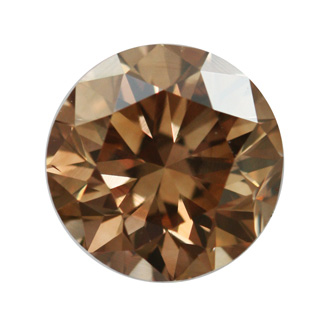 Fancy Dark Yellowish Brown Diamond, Round, 1.36 carat, VS2