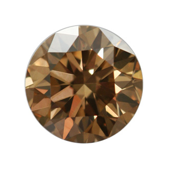 Fancy Dark Yellowish Brown Diamond, Round, 1.13 carat, VS1