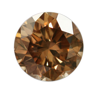 Fancy Dark Yellowish Brown Diamond, Round, 1.05 carat, VS2