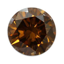 Fancy Dark Yellowish Brown Diamond, Round, 0.71 carat, SI1