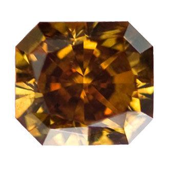 Fancy Deep Brown-Orange, 1.55 carat