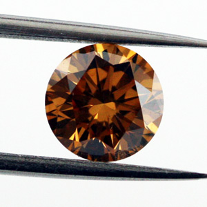 Fancy Deep Brown Orange, 0.93 carat, VS2