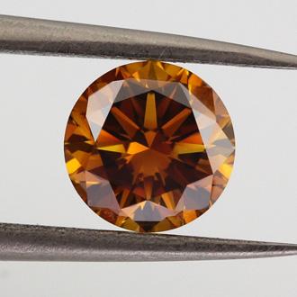 Fancy Deep Brown Orange, 1.51 carat, VS2