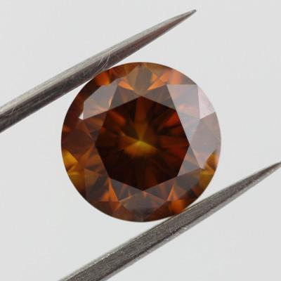 Fancy Deep Brown Orange, 2.01 carat, VVS2