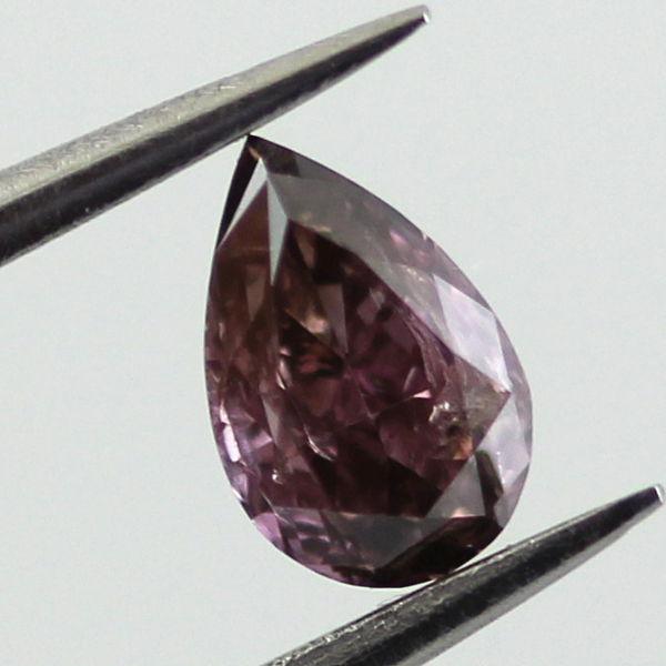 Fancy Deep Brown Pink Diamond, Pear, 0.28 carat