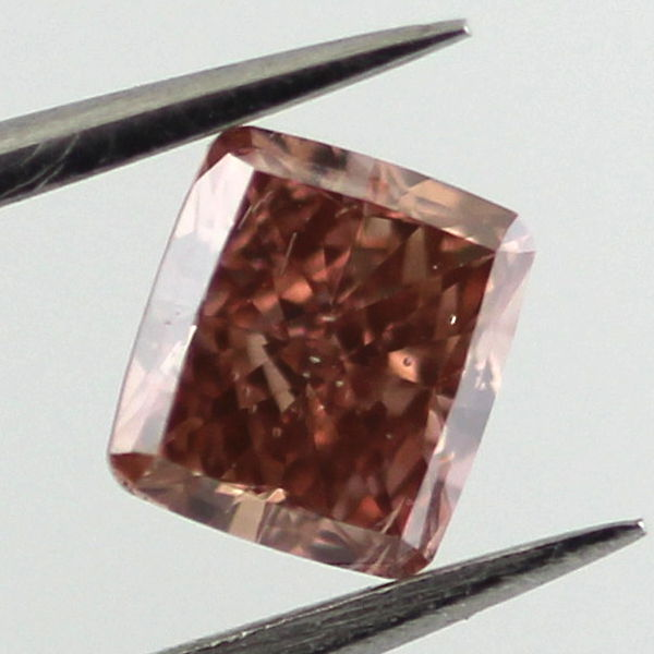 Fancy Deep Brown Pink Diamond, Cushion, 0.50 carat, SI1