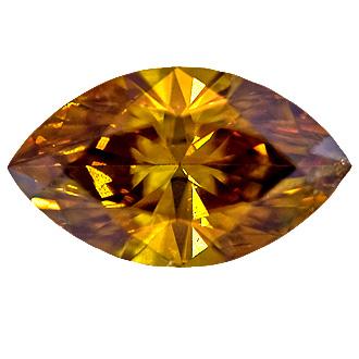 Fancy Deep Brown Yellow, 0.55 carat, SI2