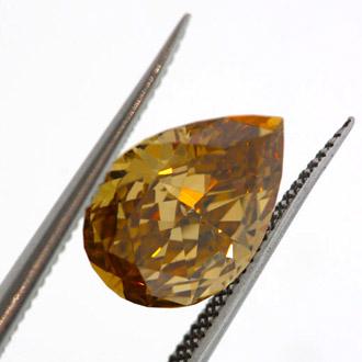 Fancy Deep Brown Yellow, 1.51 carat