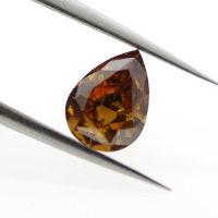 Fancy Deep Brown Yellow, 1.03 carat, VS2