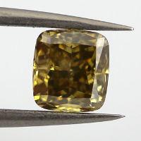 Fancy Deep Brown Yellow Diamond, Cushion, 1.00 carat, SI2 - Thumbnail