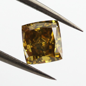 Fancy Deep Brown Yellow Diamond, Radiant, 1.02 carat, SI1