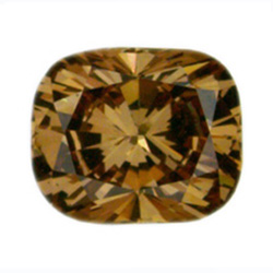 Fancy Deep Brown Yellow Diamond, Cushion, 0.76 carat, VS2