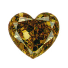 Fancy Deep Brown Yellow Diamond, Heart, 1.02 carat, VS1