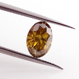 Fancy Deep Brown Yellow, 0.74 carat