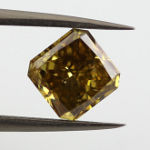 Fancy Deep Brownish Greenish Yellow Chameleon, 1.55 carat