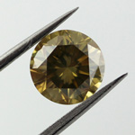 Deep Brownish Greenish Yellow, 1.09ct, SI2