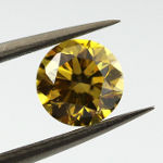 Fancy Deep Brownish Greenish Yellow, 1.01 carat, SI1