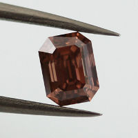 Fancy Deep Brownish Orangy Pink, 0.91 carat