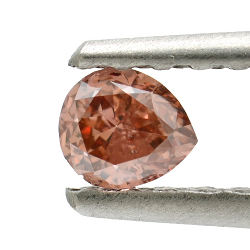 Fancy Deep Brownish Orangy Pink, 0.24ct