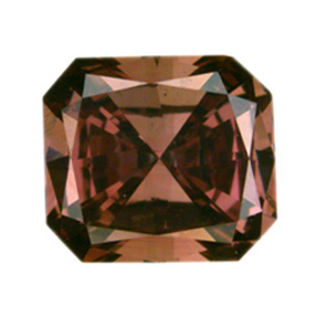Fancy Deep Brownish Orangy Pink Diamond, Radiant, 0.57 carat, SI1