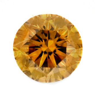 Deep Brownish Orangy Yellow, 0.45ct, SI2