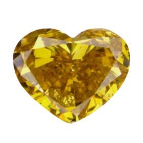 Deep Brownish Orangy Yellow, 0.91ct, SI1