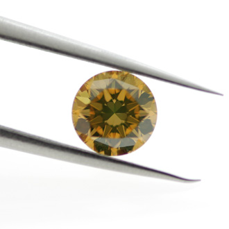 Fancy Deep Brownish Orangy Yellow, 0.82ct