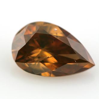 Fancy Deep Brownish Orangy Yellow Diamond, Pear, 0.78 carat - B
