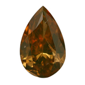 Fancy Deep Brownish Orangy Yellow, 0.78 carat