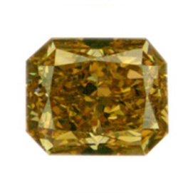 Fancy Deep Brownish Orangy Yellow Diamond, Radiant, 0.90 carat, VS2
