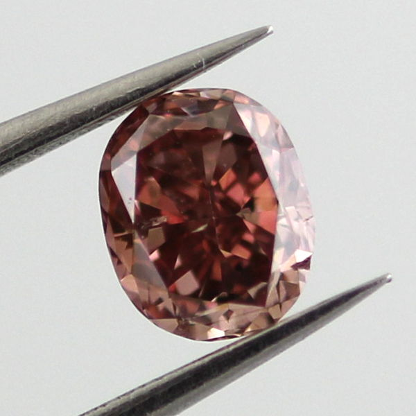 Fancy Deep Brownish Pink Diamond, Oval, 0.26 carat