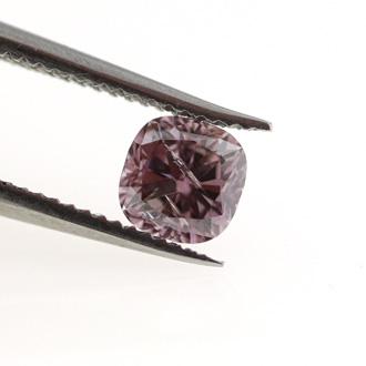 Fancy Deep Brownish Purple Pink Diamond, Cushion, 0.31 carat, SI2
