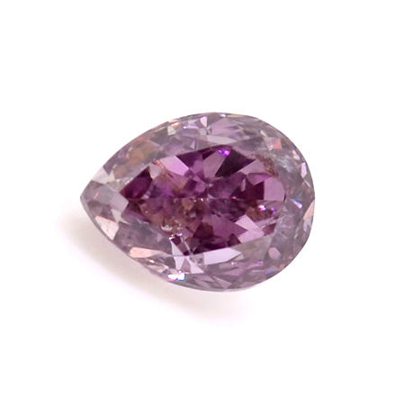 Fancy Deep Brownish Purple Pink Diamond, Pear, 0.16 carat, SI2