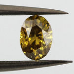 Fancy Deep Brownish Yellow, 0.32 carat