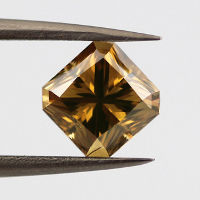 Fancy Deep Brownish Yellow, 1.37 carat, SI2